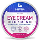 Eye Cream for Men, Natural and Organic Anti Aging Eye Cream To Reduce Puffiness, Wrinkles, Dark Circles, Crows Feet and Under Eye Bags 2oz by LUXOL