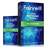 Fairywill Teeth Whitening Strips Non-Slip Professional Effect Whitening Strips, 14 Treatments 28 Strips Remove Coffee Tea and Tobacco Stains in 30mins, Sensitive Teeth Whitener Strips