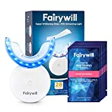 Fairywill Teeth Whitening Strips with Light, 28 Pcs Express White Strips with Light, Rechargeable 24X Blue Teeth Whitening Light, Enamel Safe Teeth Whitening Kit with Led Light, Case Include