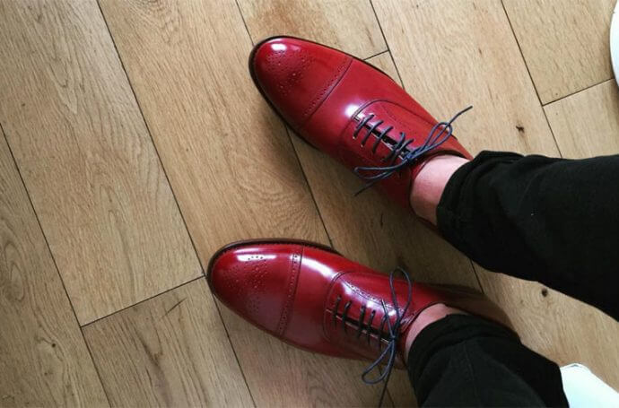 red shoes paul smith