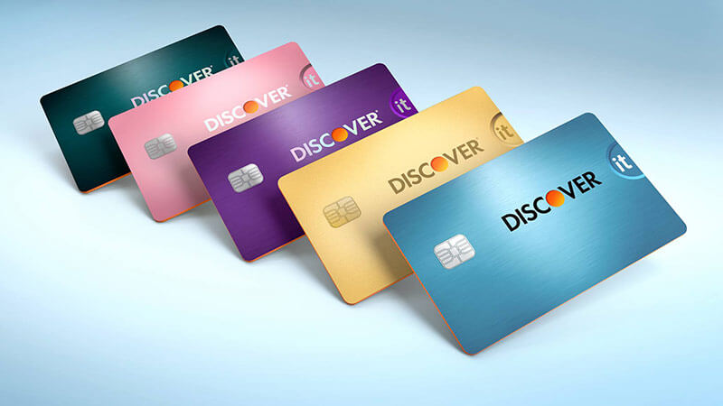Colors of the discover credit card