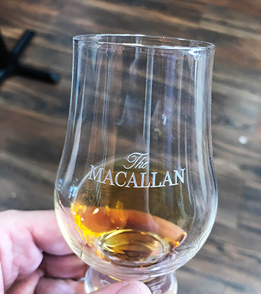 The Macallan Whisky tasting
