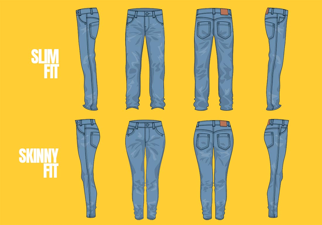 Slim Fit Jeans VS Skinny Jeans differences