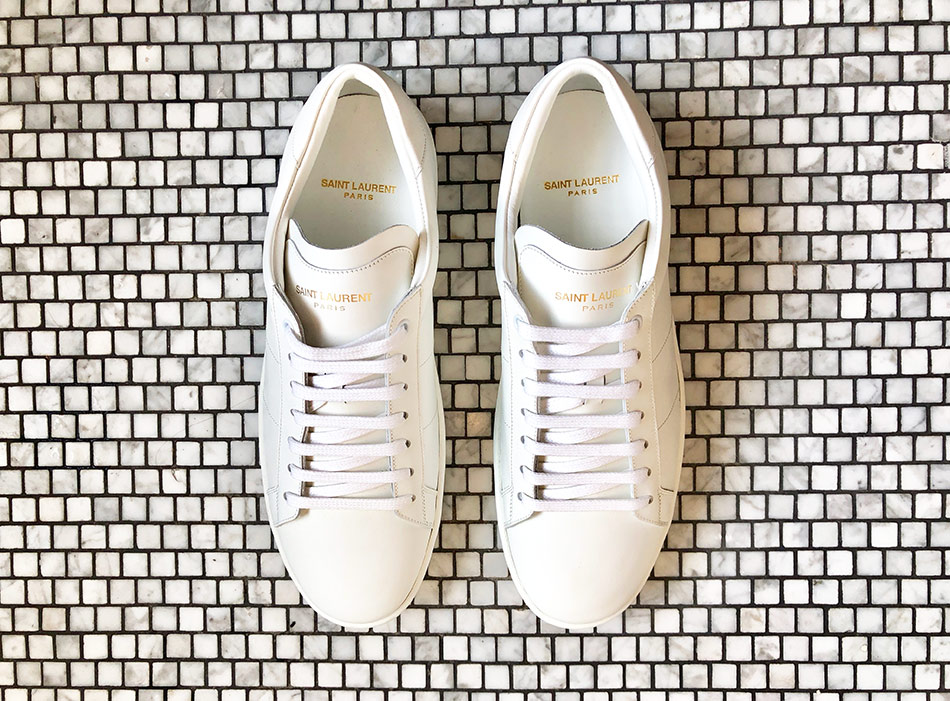 White leather sneakers by Saint Laurent