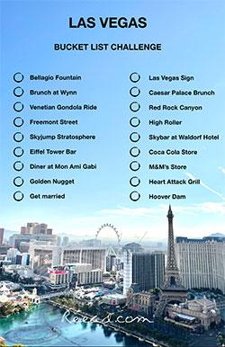 Bucket list challenge Las Vegas