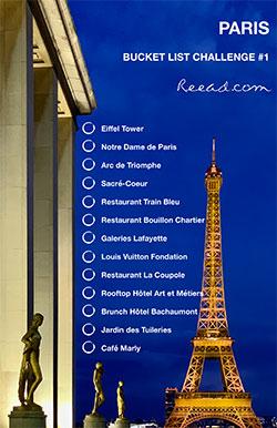 Bucket list challenge Paris