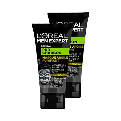 L'Oréal Men Expert - Masque Argile Purifiant Visage pour Homme - Pur...