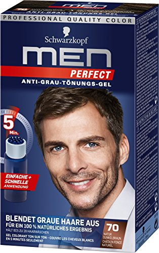 Schwarzkopf Men Perfect Lot de 3 flacons de gel de teinture anti...