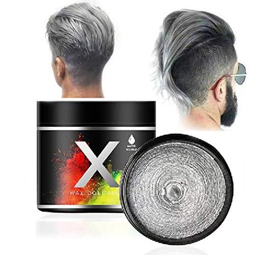 Cire de couleur pour les cheveux gris argenté, une fois la...