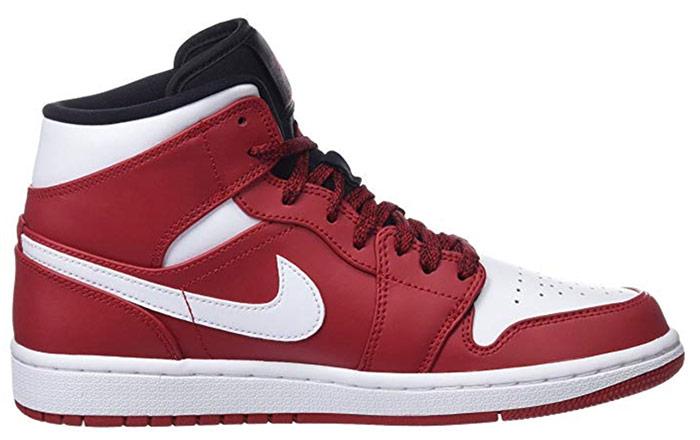 Nike Air Jordan 1 Mid rouges et blanches