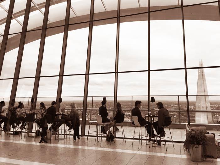 Vue depuis le Sky Pod Bar à Londres