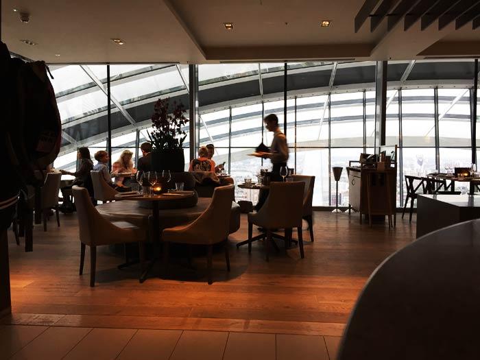 Salle du restaurant Darwin à Londres