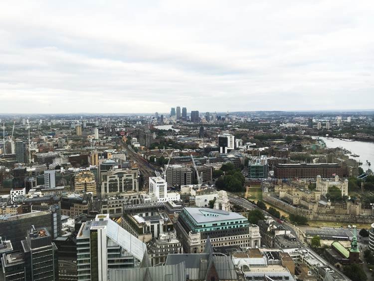 Vue depuis le Sky Pod à Londres