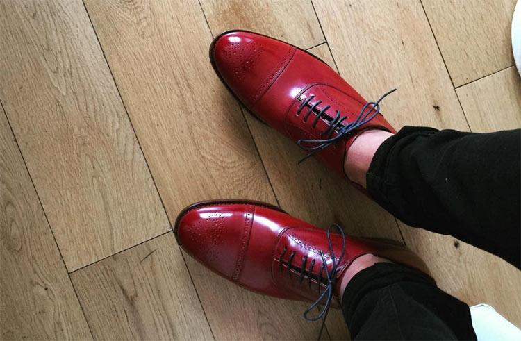 Chaussures Paul Smith bordeau