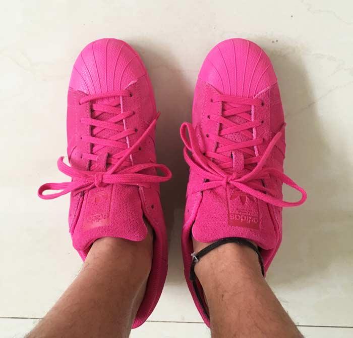 adidas superstar rosa fluo