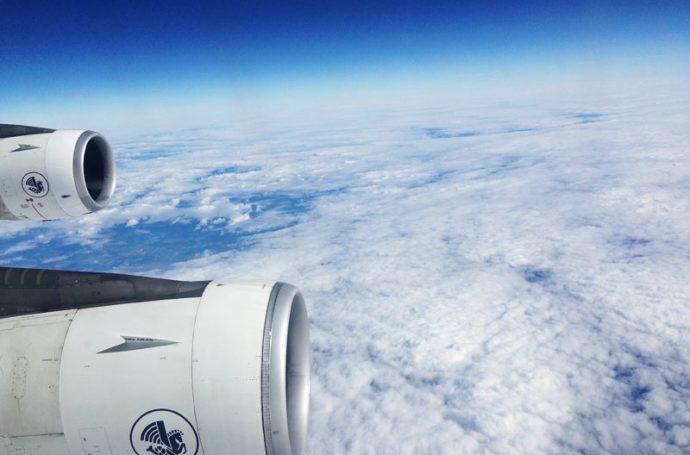 Photo du ciel depuis un avion Air France