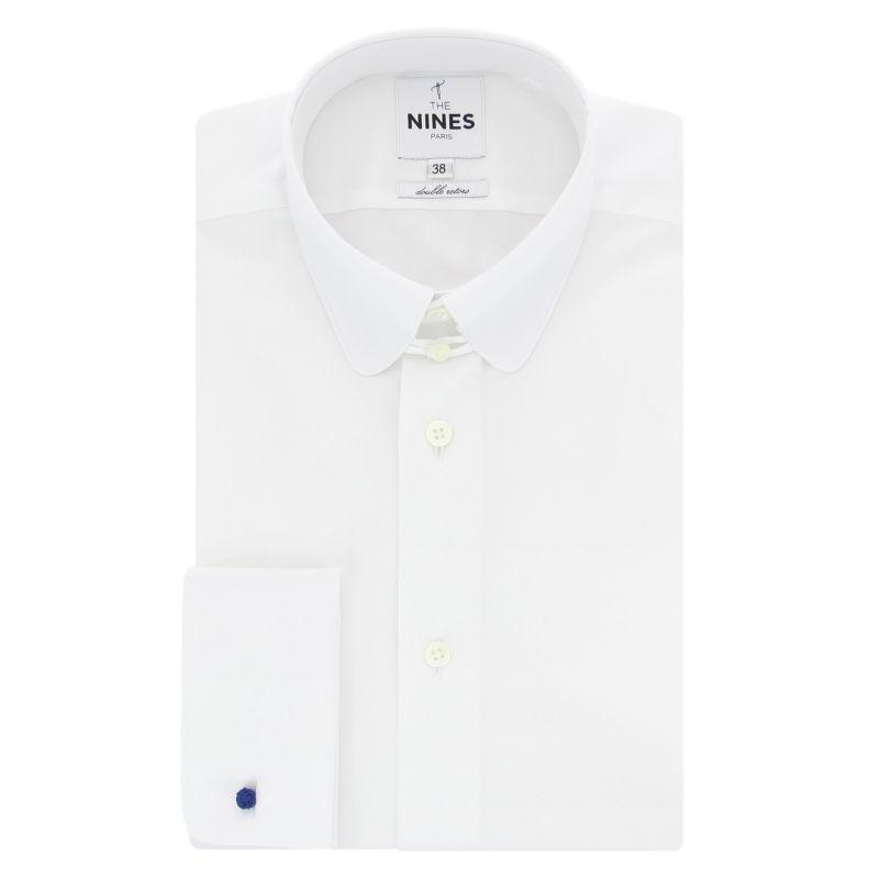chemise blanche col anglais arrondi