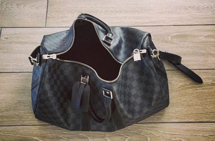 sac de weekend pour hommes damier Louis Vuitton