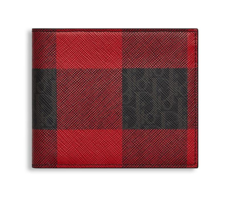 Portefeuille toile darklight rouge Dior Homme