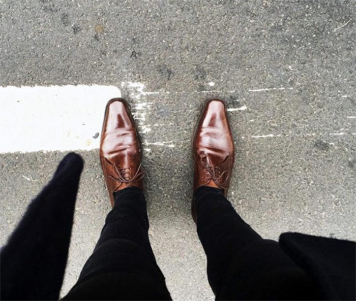 chaussures richelieu Kenzo Homme en cuir marron