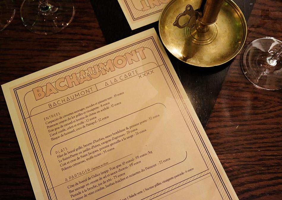 restaurant hôtel bachaumont