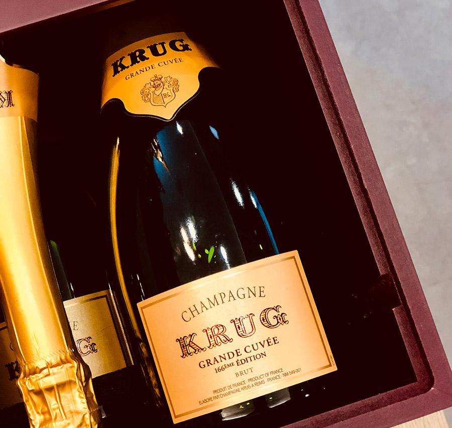 cadeau original coffret de champagne krug