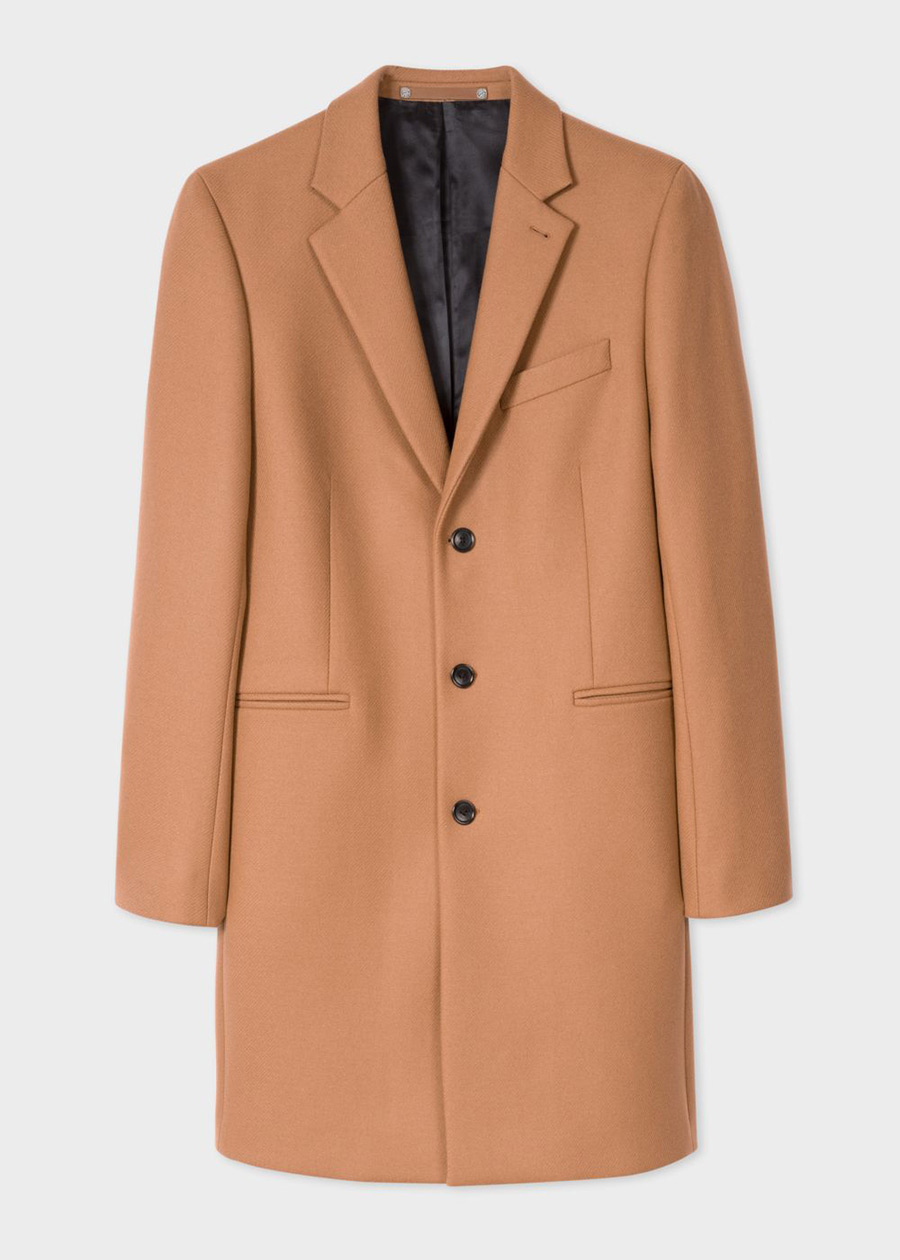 Manteau Homme Camel En Laine Et Cachemire paul smith