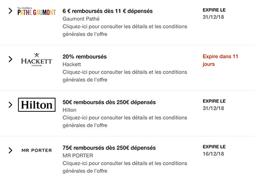 offres american express france