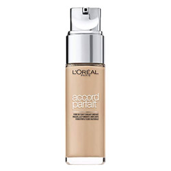 L'Oréal Paris Make Up Designer - Accord Parfait Fond de Teint Fluide Unifiant Lin Neutre