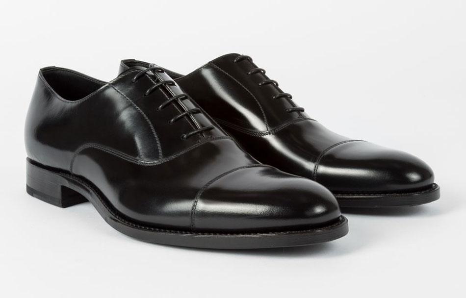 Chaussures Oxford Homme 'Carlisle' Noires En Suède paul smith