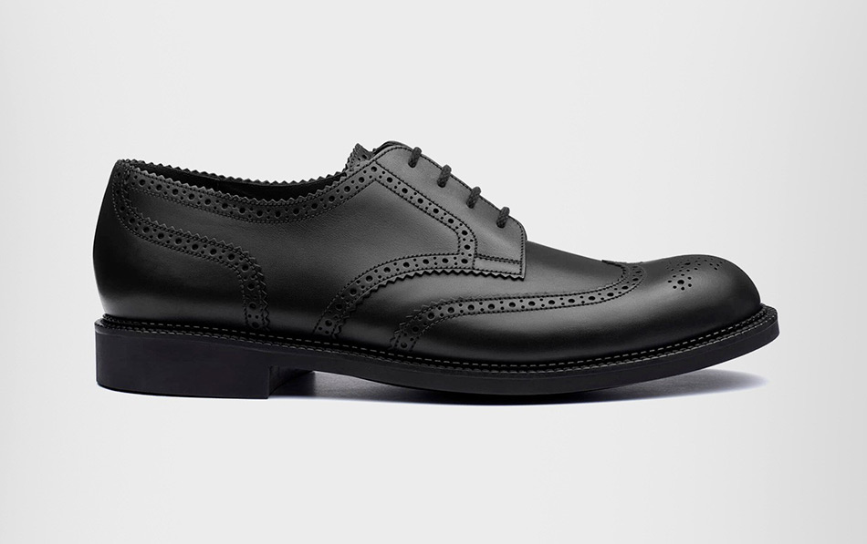 DERBY PERFORÉ CUIR VEAU LISSE NOIRCOLLECTION MILES JMWESTON
