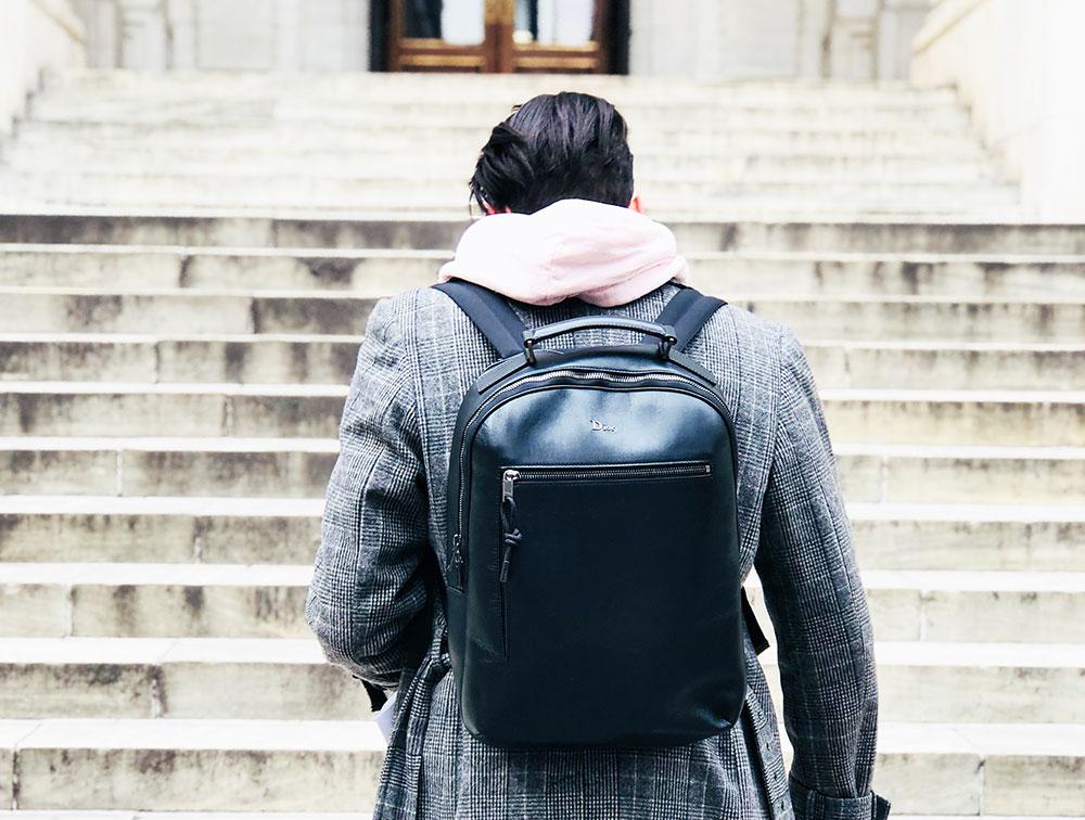 sac a dos cuir noir dior homme
