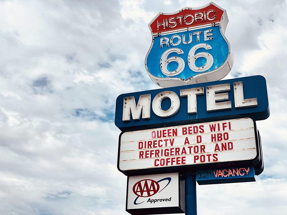 historic route 66 motel, lors d'un road trip de Las Vegas à Sedona
