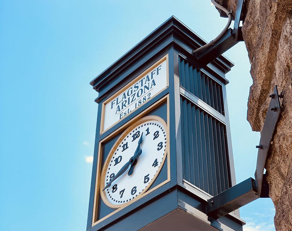 Horloge Flagstaff en Arizona