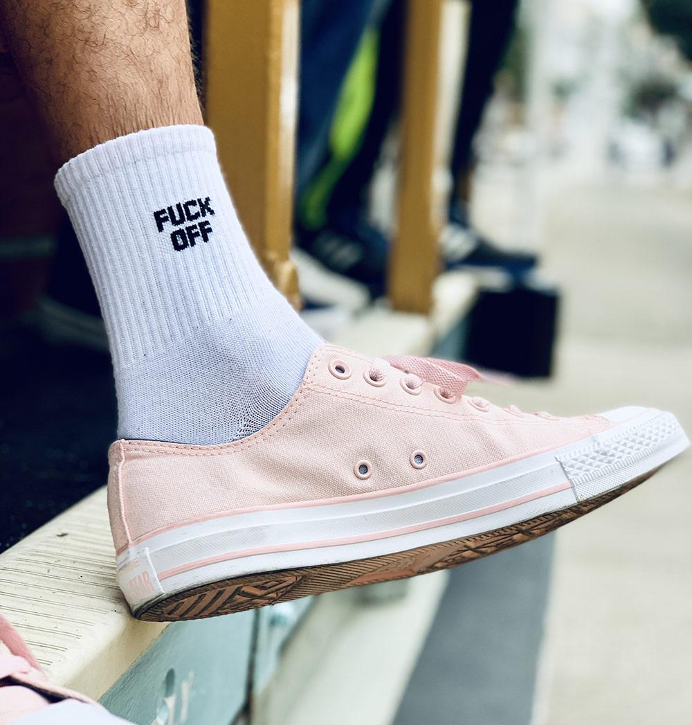 converse avec chaussettes