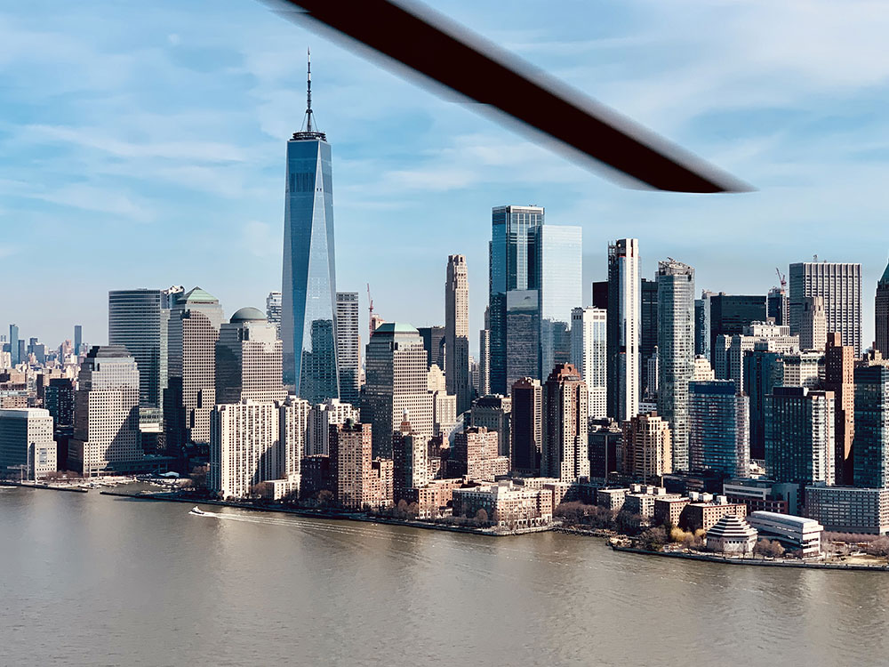 Vue de New York en hélicoptere