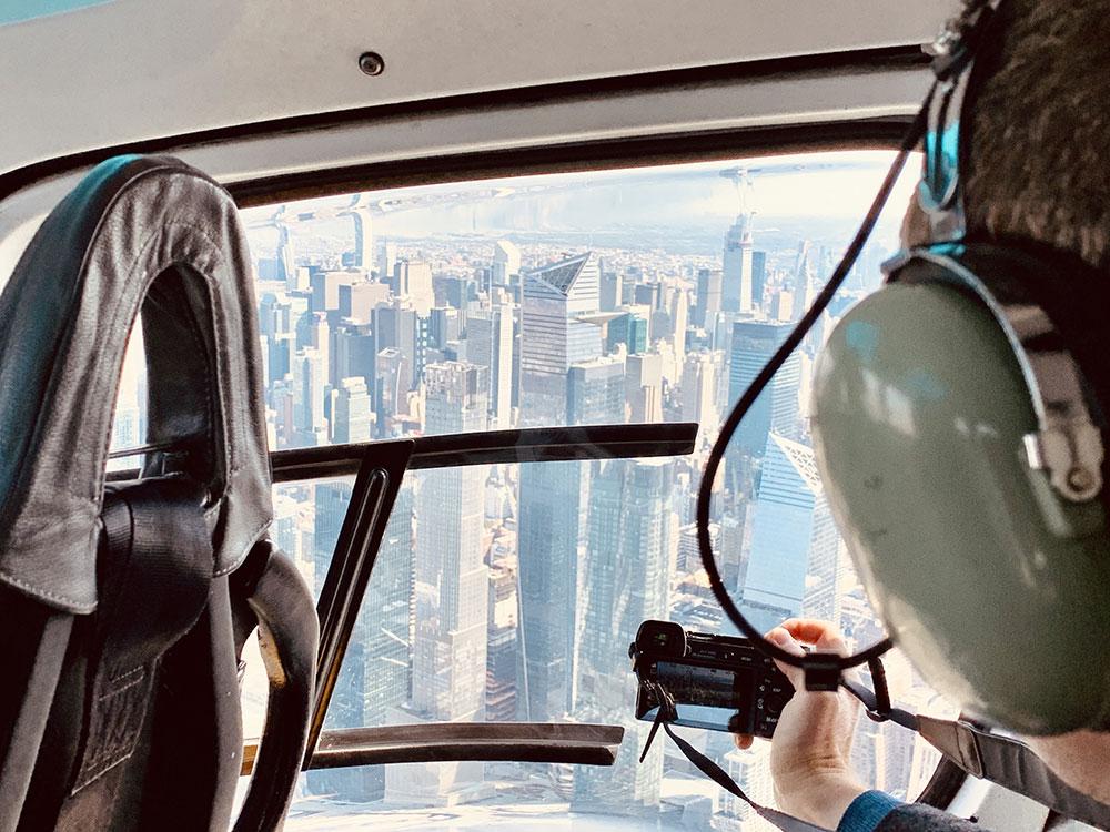 survol de New York en hélicoptere