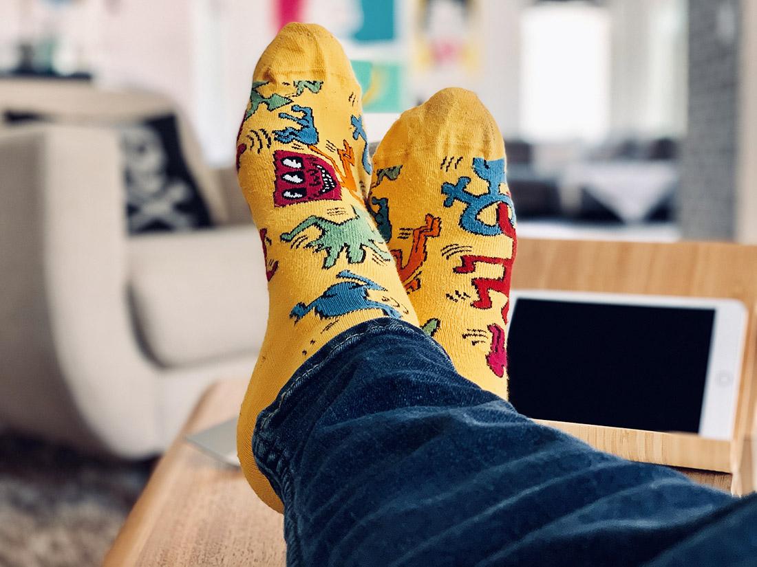 Chaussettes à motifs pour hommes