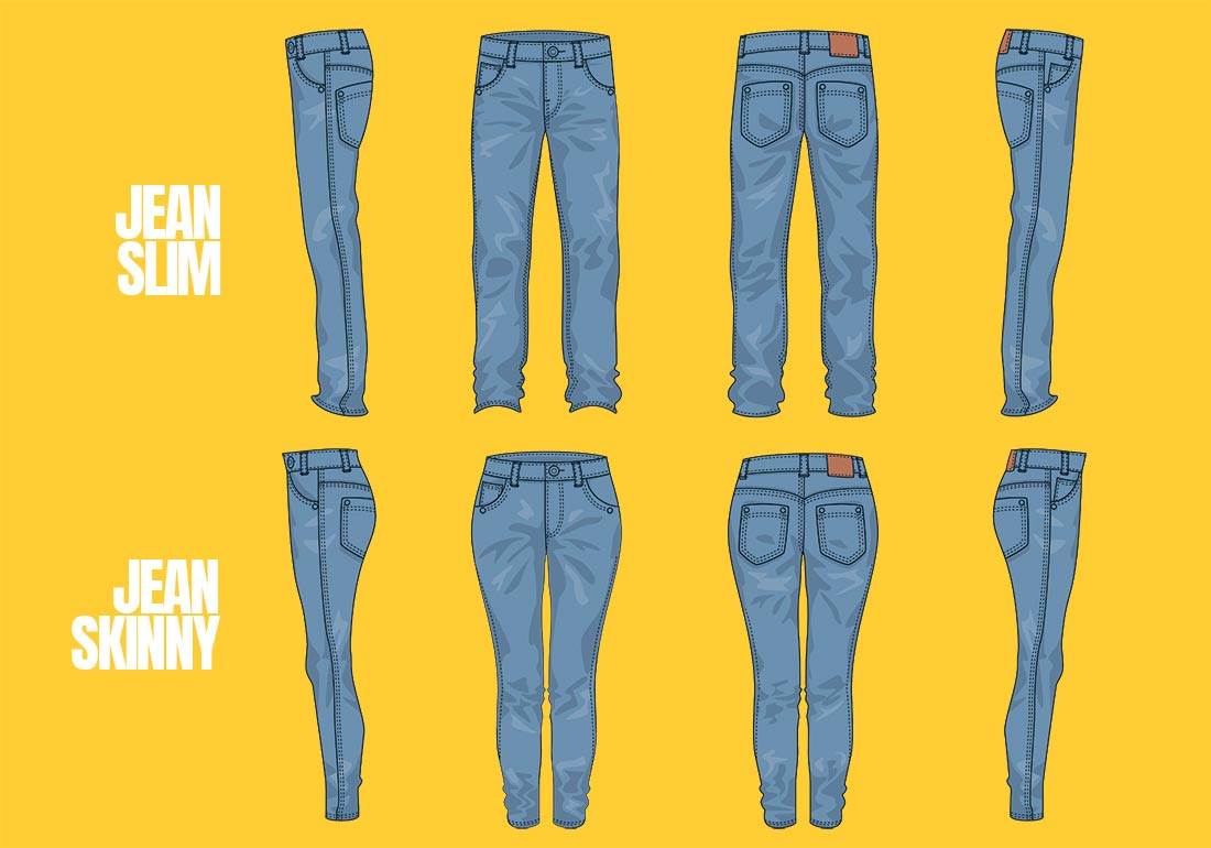 differences entre jean slim et Jeans skinny homme