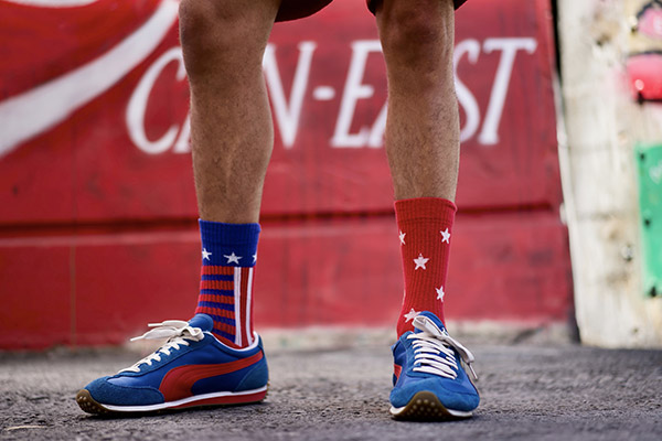chaussettes drapeau americain